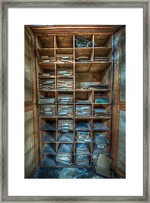 File Date Storage Framed Print by Nathan Wright
