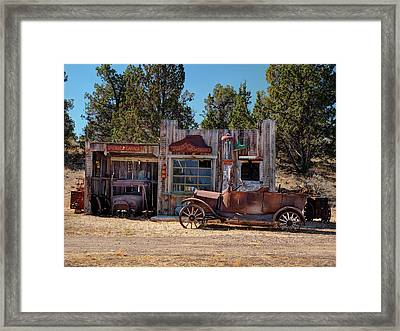Fill Er Up Framed Print by Leland D Howard