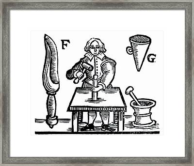 Filling A Firework Rocket Framed Print by Universal History Archive/uig