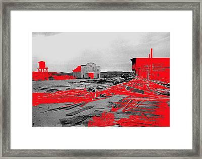Film Homage High Plain Drifter 1973 Monte Walsh Set Windstorm Mescal Arizona 1969-2012 Framed Print by David Lee Guss
