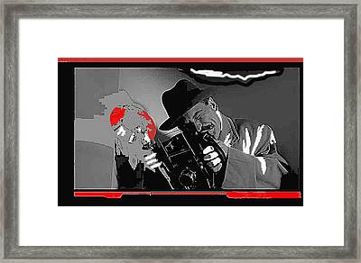 Film Homage Joe Pesci The Public Eye 1992 Weegee Screen Capture Color Added 2011 Framed Print by David Lee Guss