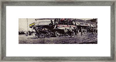 Film Homage Yankee Doodle Dandy 1942 Horse Drawn Wagon Congress And Stone Tucson Arizona C.1895-2008 Framed Print by David Lee Guss