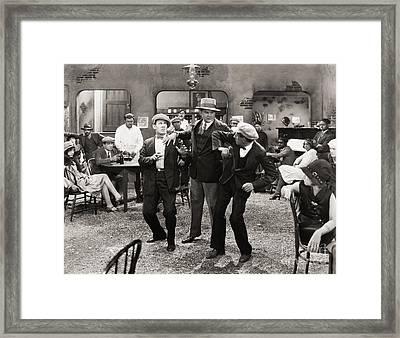 Film Still: Fights Framed Print by Granger