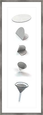 Filter Paper And Funnel Framed Print by Mikkel Juul Jensen
