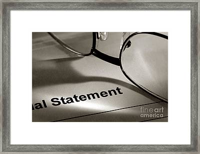 Financial Statement Framed Print by Olivier Le Queinec