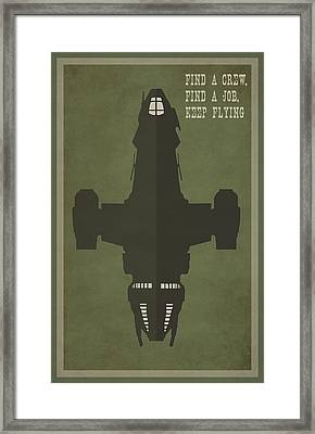 Find A Crew Find A Job Keep Flying Framed Print by Catherine Black