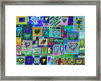find U'r love found v7 Framed Print by Kenneth James