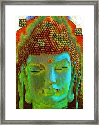 Finding Buddha - Meditation Art By Sharon Cummings Framed Print by Sharon Cummings