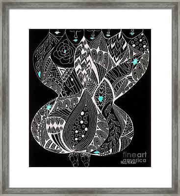 Finding My Soul Framed Print by Nancy TeWinkel Lauren