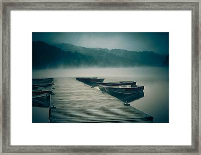 Finding Peace At The Lake Framed Print by Shane Holsclaw