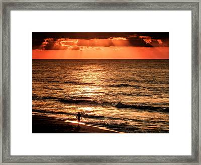 Finding Peace On Earth Framed Print by Karen Wiles