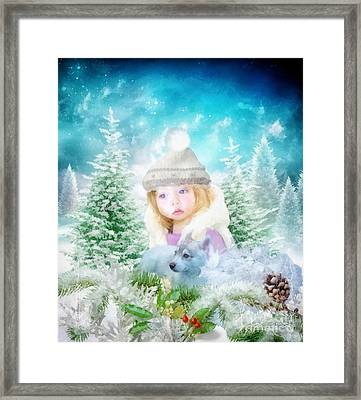Finding Santa Framed Print by Mo T