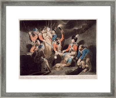 Finding The Body Of Tipu Framed Print by British Library