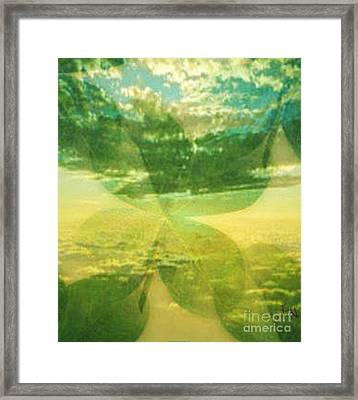 Finding Your Clover Framed Print by PainterArtist FIN