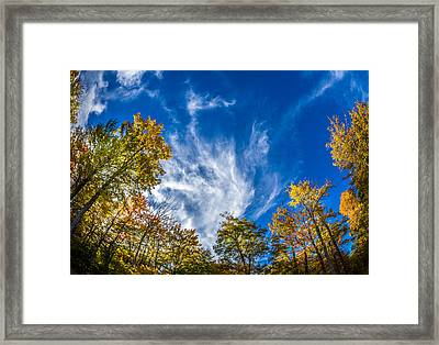 Finger Lakes Fall Day Framed Print by Gary Fossaceca