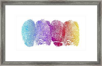 Finger Prints Framed Print by Aged Pixel
