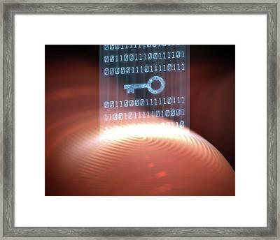 Fingerprint Scanner Framed Print by Ktsdesign