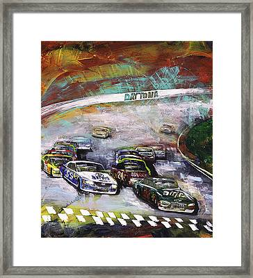 Finish Line Framed Print by Gray  Artus