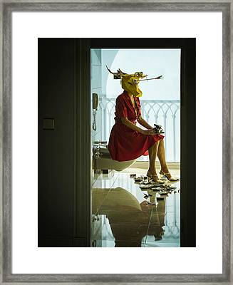 Finishing Shot Framed Print by Ambra