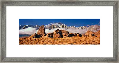 Finn Rock Formations, Alabama Hills, Mt Framed Print by Panoramic Images