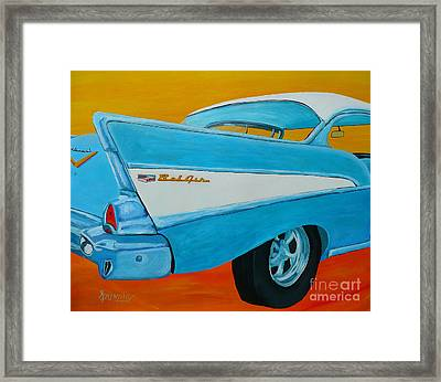Fins And Curves Framed Print by Anthony Dunphy
