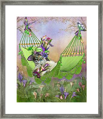 Fiona In Calla Lily Hat Framed Print by Carol Cavalaris