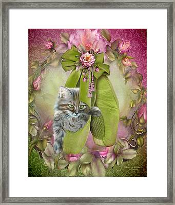 Fiona The Ballerina Framed Print by Carol Cavalaris