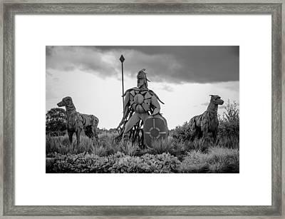 Fionn Mac Cumhaill And His Hounds Framed Print by Martina Fagan