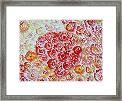 Fioritura Amore Framed Print by Sonali Gangane