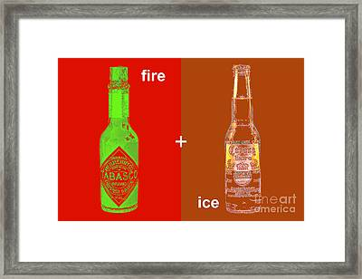 Fire And Ice 20130405 Framed Print by Wingsdomain Art and Photography