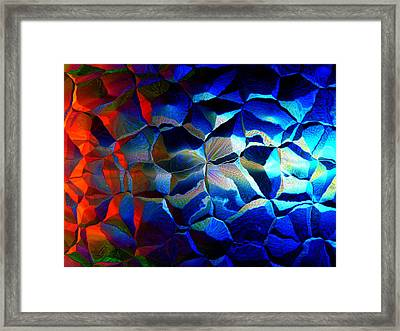 Fire And Ice Framed Print by Andreas Thust