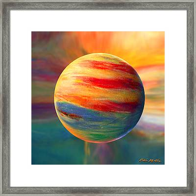 Fire And Ice Ball  Framed Print by Robin Moline