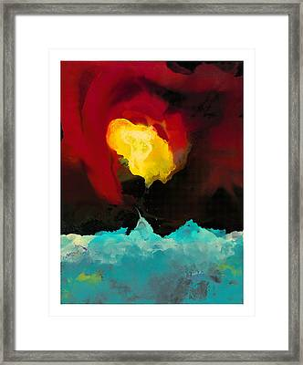 Fire And Ice Framed Print by Craig Tinder