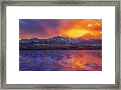 Fire And Ice Framed Print by Darren  White