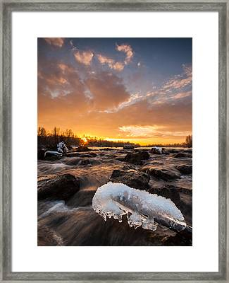 Fire And Ice Framed Print by Davorin Mance