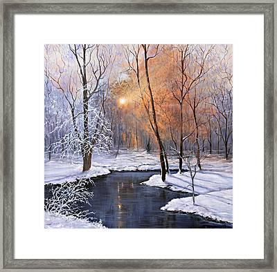 Fire And Ice Framed Print by Julie Townsend