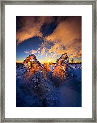Fire And Ice Framed Print by Phil Koch