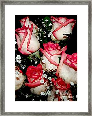 Fire And Ice Roses Framed Print by Gail Matthews