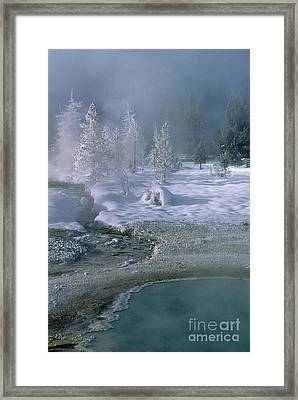 Fire And Ice - Yellowstone National Park Framed Print by Sandra Bronstein