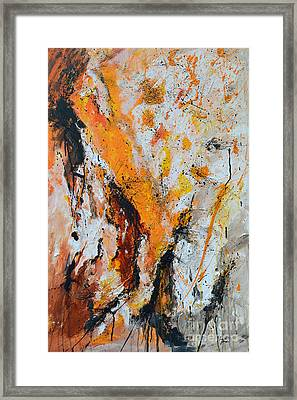 Fire And Passion - Abstract Framed Print by Ismeta Gruenwald