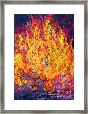 Fire And Passion - Here's To New Beginnings Framed Print by Eloise Schneider