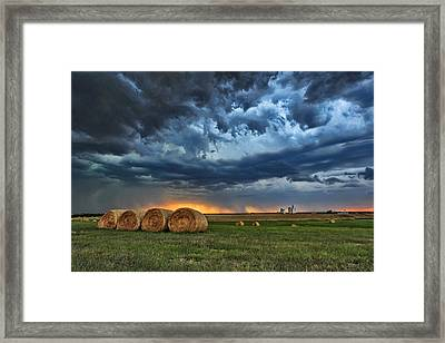 Fire And Rain Framed Print by Jill Van Doren Rolo