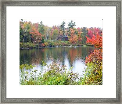 Fire And Water Framed Print by Sandra J Isherwood