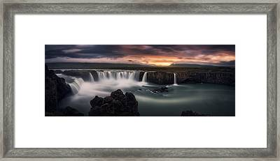 Fire And Water Framed Print by Stefan Mitterwallner