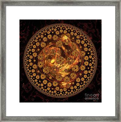 Fire Ball Filigree  Framed Print by Elizabeth McTaggart