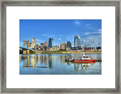 Fire Boat 1 Framed Print by Mel Steinhauer