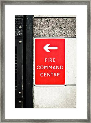 Fire Command Centre Framed Print by Tom Gowanlock