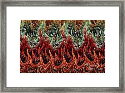 Fire Dance Framed Print by Kaye Menner