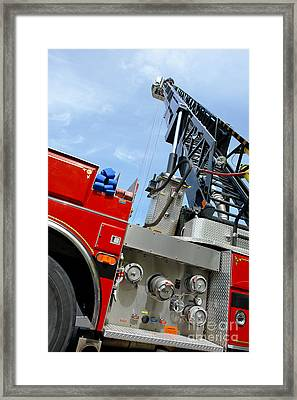 Fire Engine Framed Print by Olivier Le Queinec