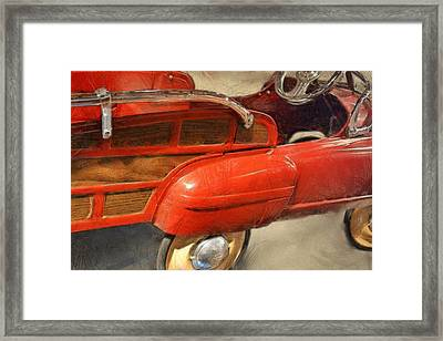 Fire Engine Pedal Car Framed Print by Michelle Calkins